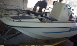 4o Yamaha four man boat with licensed trailer, has 2