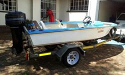 Double hull boat - solid construction, 4 seater with