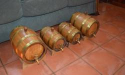 I have 4 awesome Mini Oak Barrels for sale in very good
