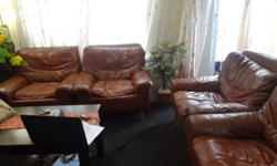 HI 4 pcs single leather couches for  R 1800 only call