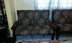 4 PIECE LOUNGE SET , SOLID WOOD STILL IN GOOD