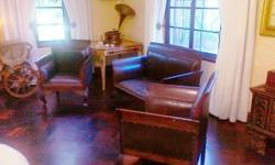 Classy 4 seated leather set imported. Good for Dr.,