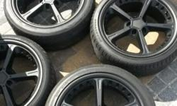 "245/40ZR 19"" 4 x Tyres 4 x Rims I removed these from my"