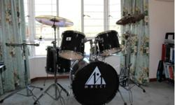 1x Snare 1x High Tom 1x Middle Tom 1x Floor Tom 1x Base