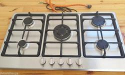 Brand new 5 plate gas stove with electric starter dials