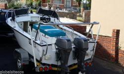 6 man ace craft deep sea boat. 2 X 60hp engines and