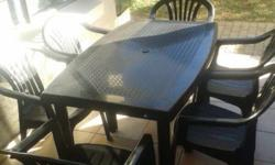 Patio set for sale - table and 6 chairs. In great