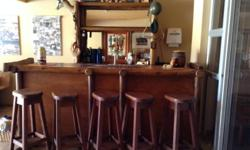 Log Bar with 6 chairs Display unit 4 Lockable cupboards