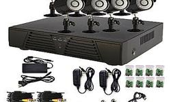 * 4Channel DVR * 4x color cameras with day and night