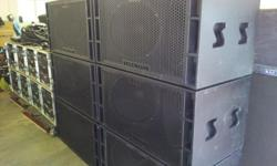 1200 watts RMS per CAB 2 years old. Reason for selling.