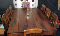 Sleeperwood table & chair set 8 seater Beautiful set -