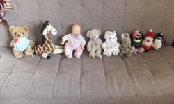 A collection of 9 Plush toys - Teddy bear, Father