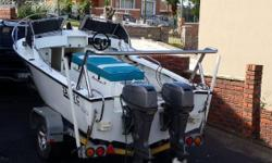 18.6 ft ace craft with 2 X 60hp engines. And galvanised