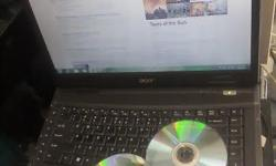 Acer laptop, model Travelmate 5730. DVD writer,