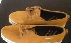 Addidas suede effect Brown/Fawn casual shoes US size