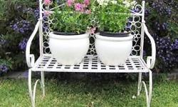 White Bench @ R375 (pots not inclusive) White Chair @