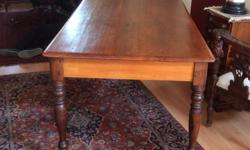 Yellow wood and stink wood dining room table