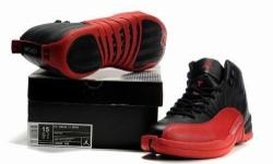 Air Jordan 12 sneakers for sale. Black and Red. Size US
