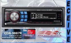 Alpine CDA-9887 car radio for sale, front loading cd,