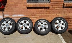 Amarok Rims and Tyres 245/70/16- Condition 45% BF
