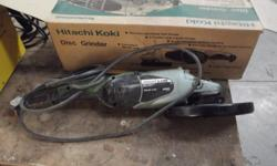 Hitachi Koki industrial angle grinder 2500W. in