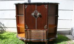 Antique Ball and Claw Cupboard. Needs some TLC. Wood in