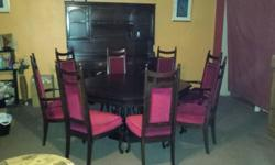 Antique dining room set. Stately, comfortable, sturdy,