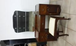 Antique dressing table with dressing table chair
