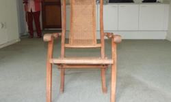 This folding chair has been restored and is in very