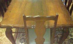 Beautiful imbuia ball & claw dining room set. Every