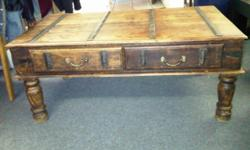 Beskrywing Antique Indonesian Coffee Table Has 2