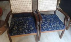 Re-upholstered and repaired antique lounge suite in