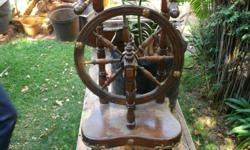 Lovely antique spinning wheel. Missing foot and does