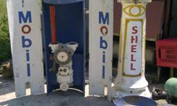 Beskrywing Antique Shell Mobil Gas Pump for sale