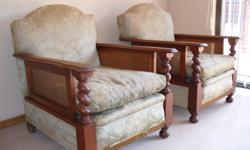 Antique Teak lounge suite , 3 seater couch & 2x