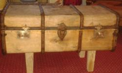 One of a kind this old Trunk is fully refurbished and