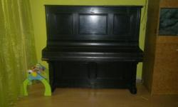 "Beskrywing Upright piano 53"" steelback and Black in"