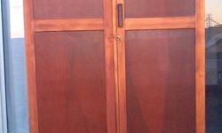 Antique wardrobe with 3 drawers, tie rack, hanging