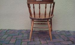 Beautiful old wooden chair , needs a little bit of