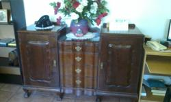 Antiques ball and claw sideboard for sale . Good