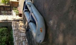 3m fold up with 5hp Yamaha, oars and pump included.