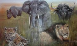 Beskrywing Big Five 600 X 610 (painting size)Framed in