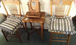 assorted antique furniture