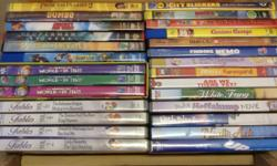 Assorted children's DVD's for sale, 27 of them in