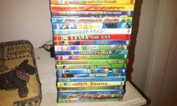 22 x kids DVDs....They are brand new. The price is per