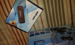 NEVER BEEN USED ITEMS STILL NEW AND SEALED, THE TV CARD