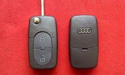AUDI 2 Button Flip key remote case/shell/fob + HAA