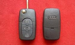 AUDI 3 Button Flip key remote case/shell/fob + HAA