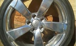 "Audi RS3 17"" High Polished Rims Great Condition PCD: 5"