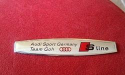 AUDI S line/S Line Metal Chrome Fender Badge/Decal.